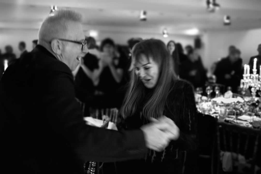 Jean Paul Gauthier and Babeth Dijan at Elisabeth Dijan's Gala Dinner for Association AEM