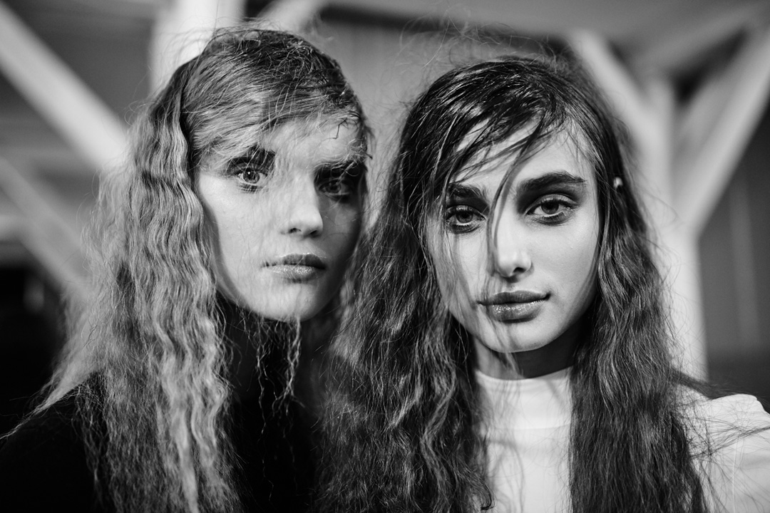 Models backstage at Esteban Cortazar Paris Fashion Week