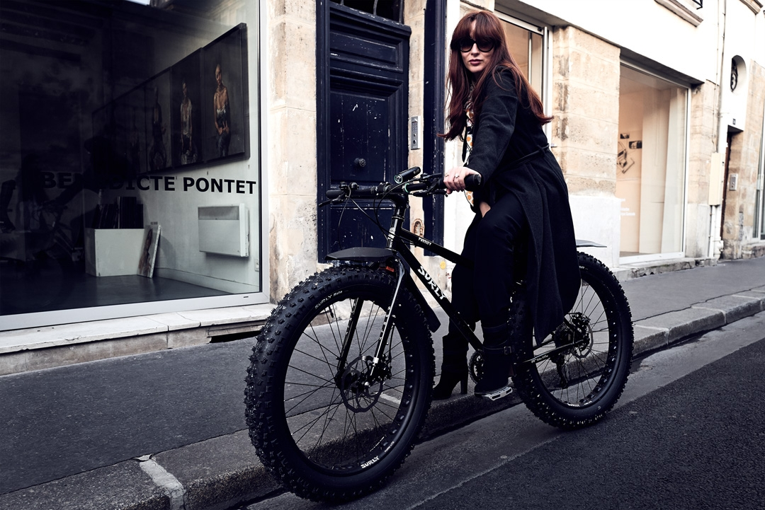 Diana Ayanna with her Surly Pugsley Fatbike